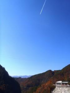 松川方向を望む