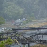 旧小渋橋と中央構造線博物館