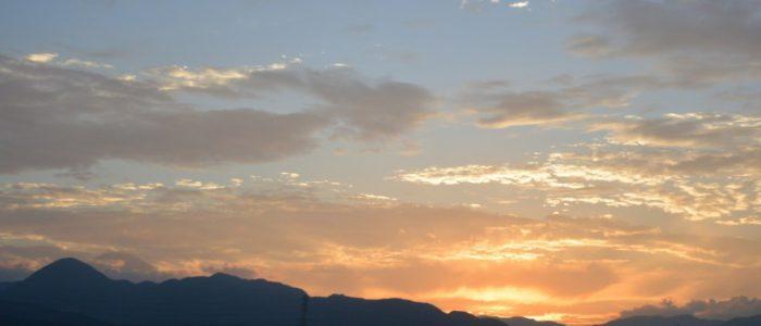 夕焼けの下島 2016年6月17日撮影