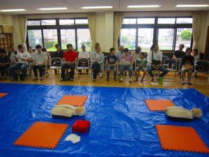 参加者に挨拶と訓練説明