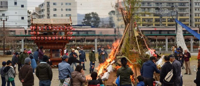 下島道祖神祭り(どんど焼き) 2019年1月12日