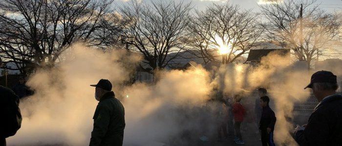 2020年1月11日(土) 下島道祖神祭り(どんど焼き)